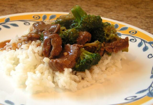 Beef and Broccoli recipe with sliced beef in a flavorful sauce with garlic, ginger & fresh broccoli. Simple to make & tastes like it's from a restaurant!