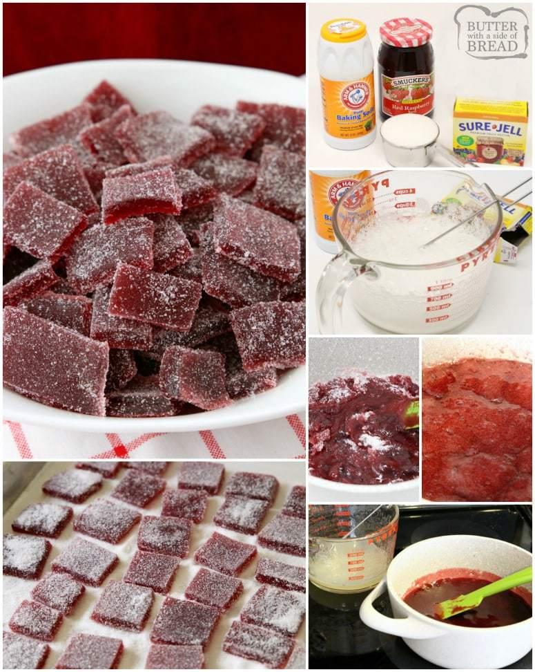 raspberry jelly candy
