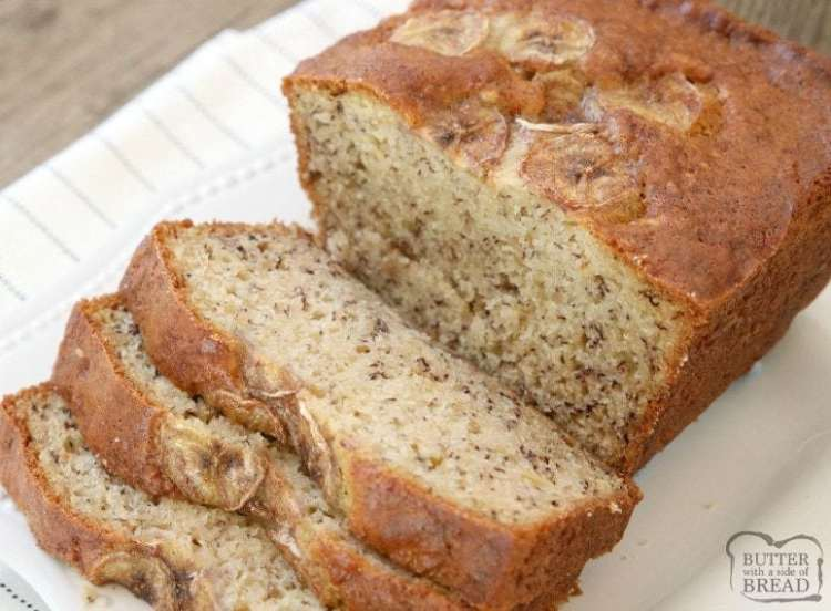 Yogurt Banana Bread is the BEST banana bread recipe ever! Made with yogurt and ripe bananas, it's super easy to make, light, moist & has the best flavor.