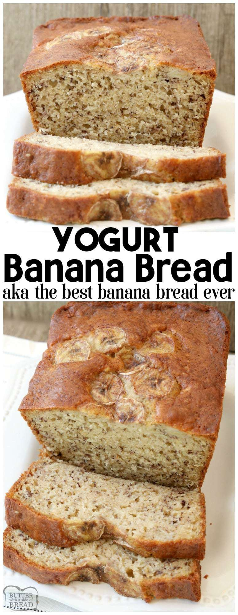 YOGURT BANANA BREAD RECIPE {VIDEO INCLUDED!}