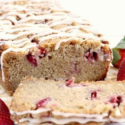 GLAZED STRAWBERRY BREAD
