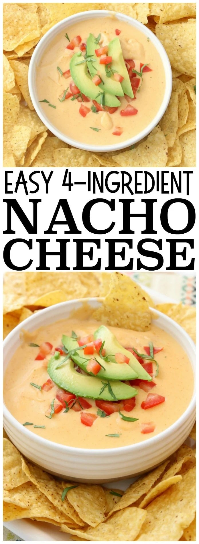 Easy Nacho Cheese sauce recipe with only 4 ingredients and is made in minutes! Smooth, creamy with great nacho cheese flavor, this recipe is perfect for parties, busy weeknight dinners and game day food! Best #Nacho #Cheese #recipe ever from Butter With A Side of Bread #appetizer #food #nachos #homemade