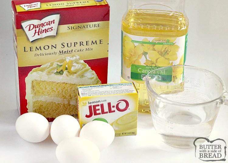 Ingredients in lemon bread