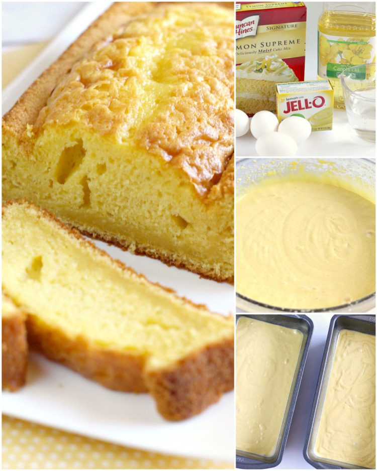 Step by step instructions on making lemon bread recipe