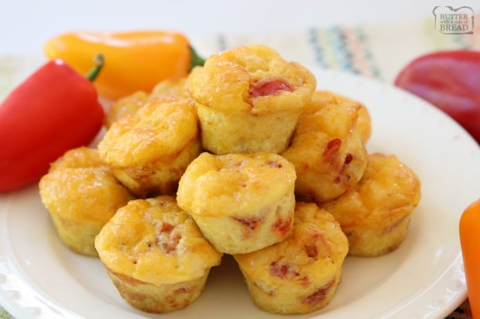 Fiesta Egg Bites Recipe Butter With A Side Of Bread