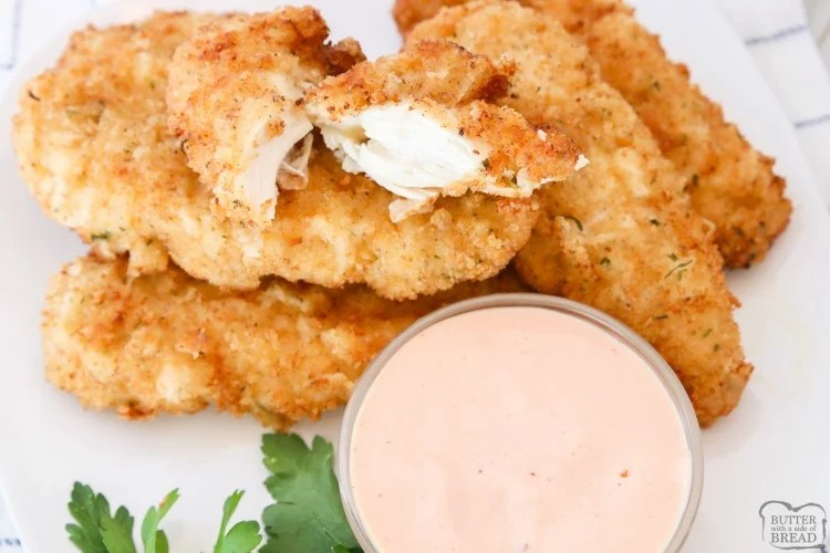 BEST CHICKEN STRIPS RECIPE - Butter with a Side of Bread