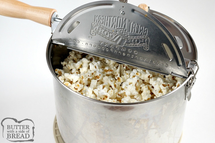 How to make popcorn on the stove