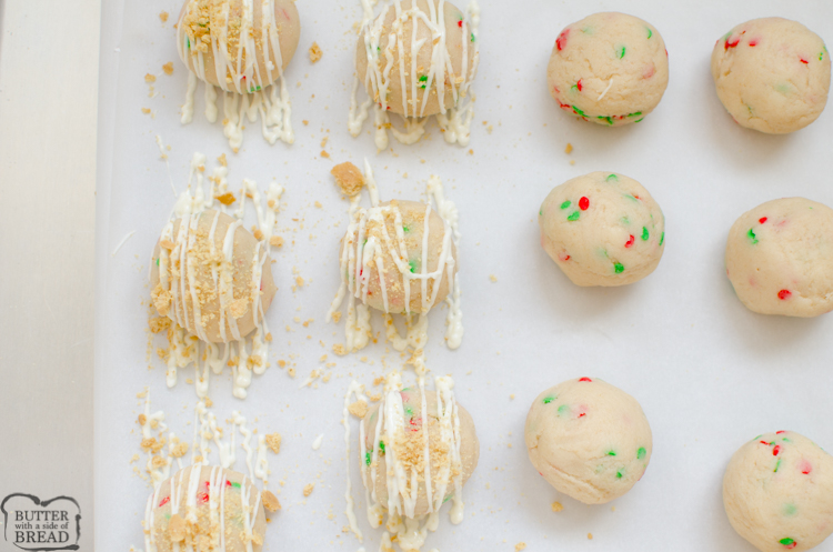 drizzle the cake balls