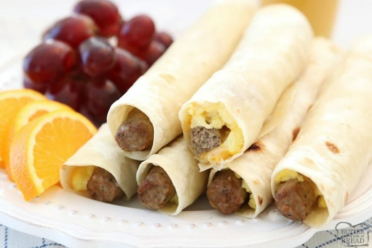 High Protein Breakfast Wraps made with turkey sausage, eggs and cheese wrapped in a fresh tortilla. Easy on the go breakfast that's delicious and & satisfying for everyone!