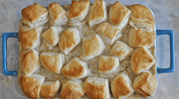 Biscuits and gravy casserole breakfast recipe