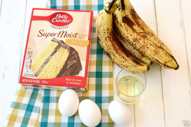 easy banana bread recipe ingredients