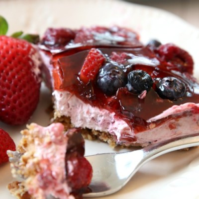 BERRY JELLO PRETZEL SALAD