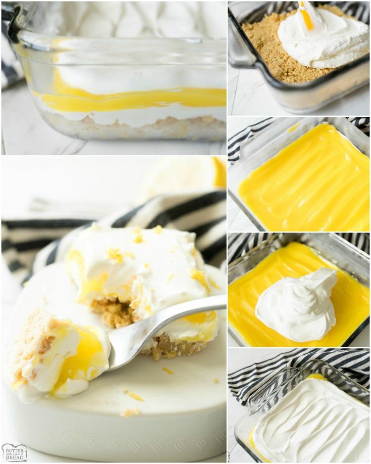 how to make lemon lush recipe