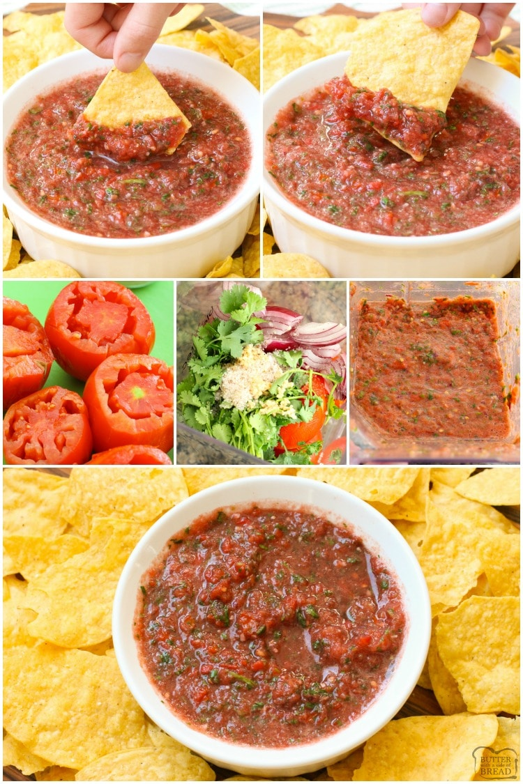 how to make homemade salsa with a blender