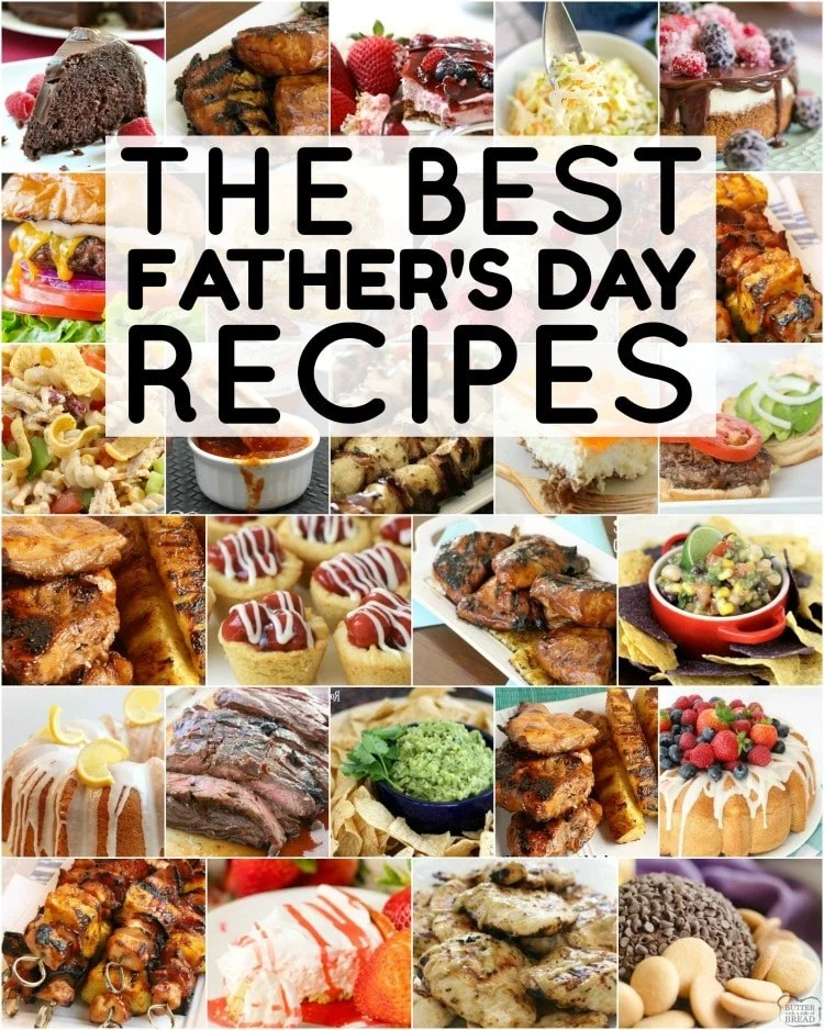 Father's Day Ideas for a very special day! Our favorite recipes to make for Dad- everything from Father's Day Brunch to Father's Day Cake! Enjoy!