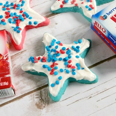 PATRIOTIC JELLO SUGAR COOKIES