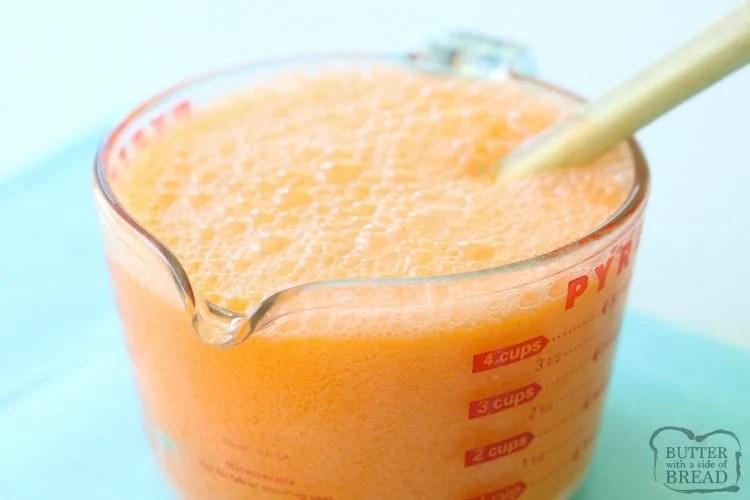how to make orange sherbet