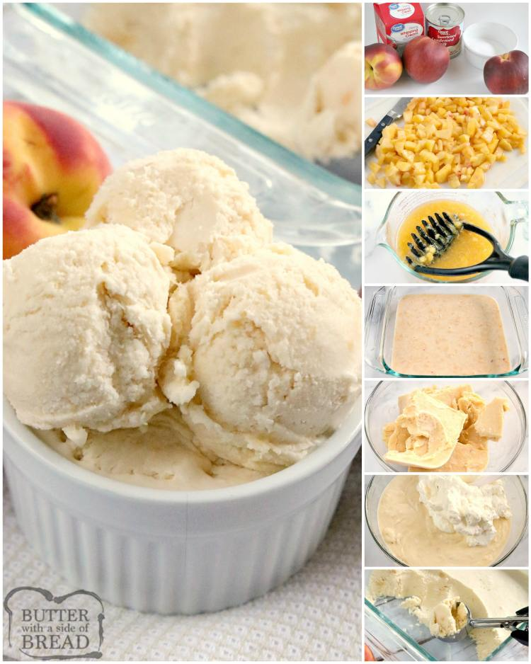How to make homemade peach ice cream