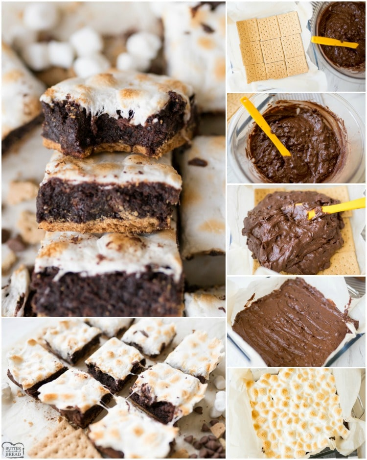 How to make smores brownies