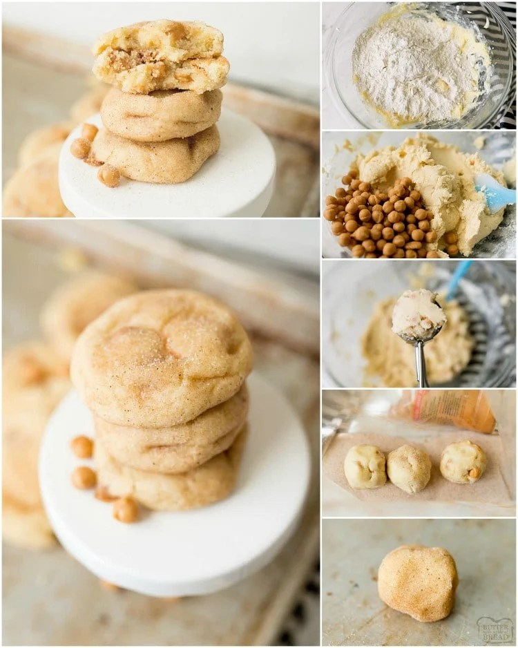 how to make caramel snickerdoodle cookies recipe