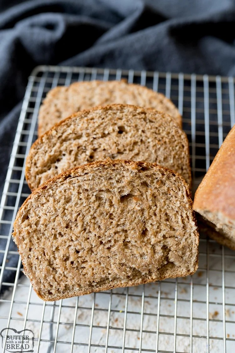 sliced honey wheat bread