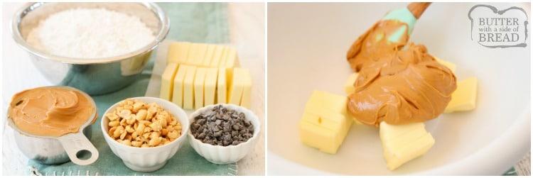 ingredients for peanut butter fudge