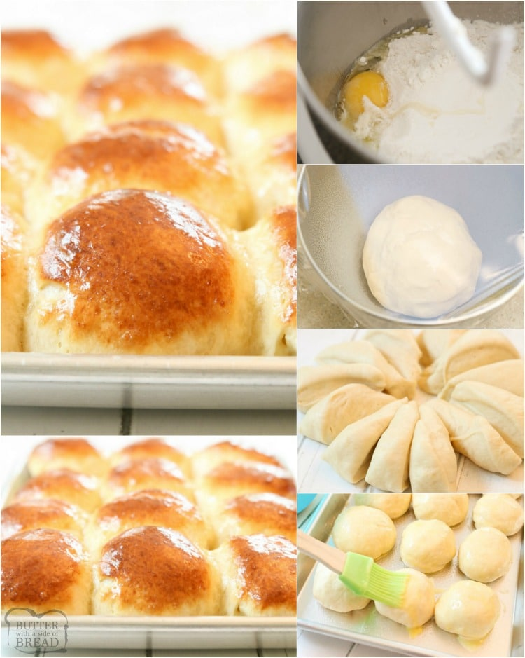 Easy Dinner Roll recipe perfect for procrastinators! Done in just over an hour, these buttery soft dinner rolls are the perfect addition to dinner.