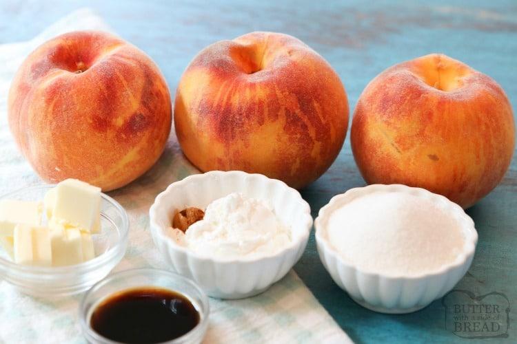 Peach Syrup Ingredients