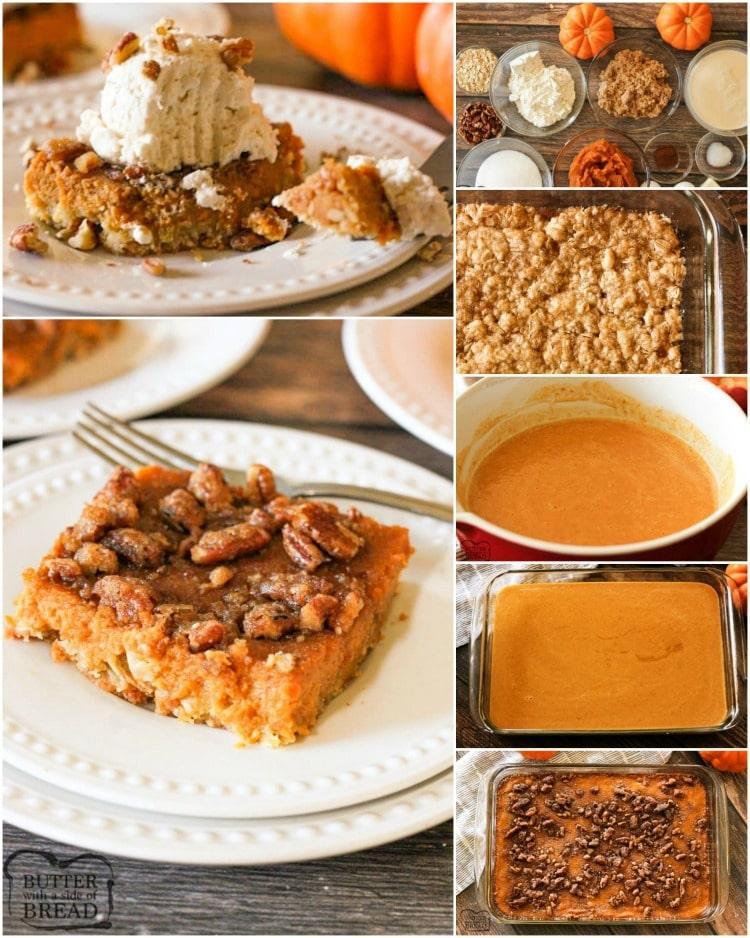 How to make pumpkin pie bars