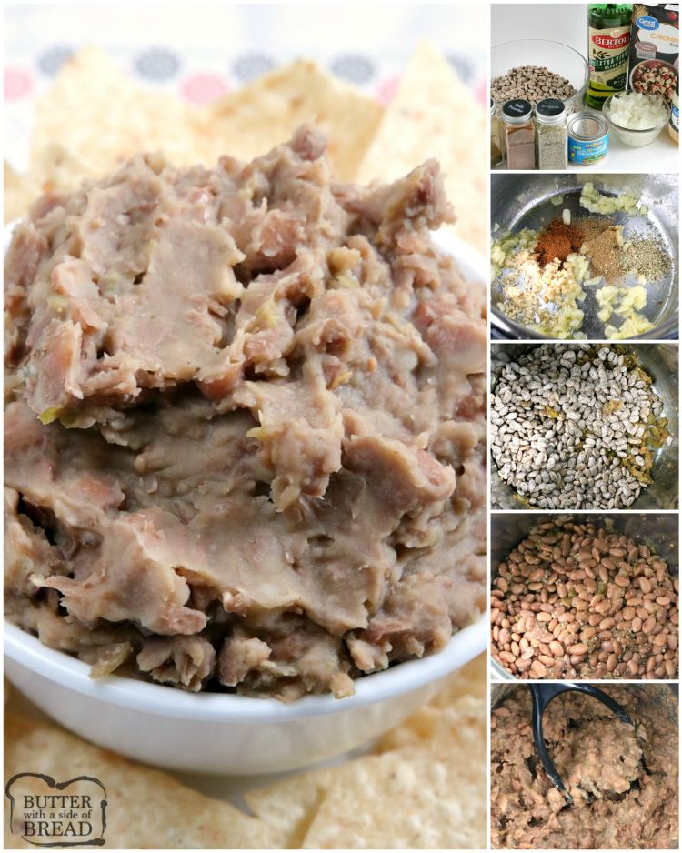 Instant Pot Refried Beans are easy to make, full of flavor and taste just like the refried beans at your favorite Mexican restaurant! This easy refried bean recipe doesn't require any overnight soaking and only requires a few minutes of preparation.