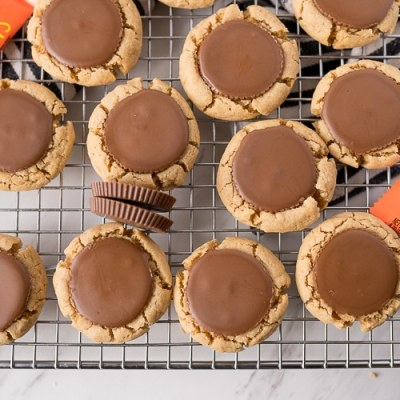 BEST PEANUT BUTTER CUP COOKIES EVER!