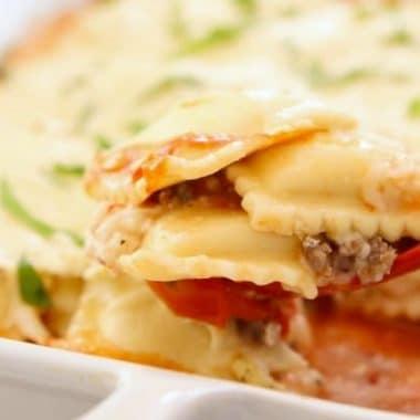 3 Cheese Baked Ravioli Lasagna recipe