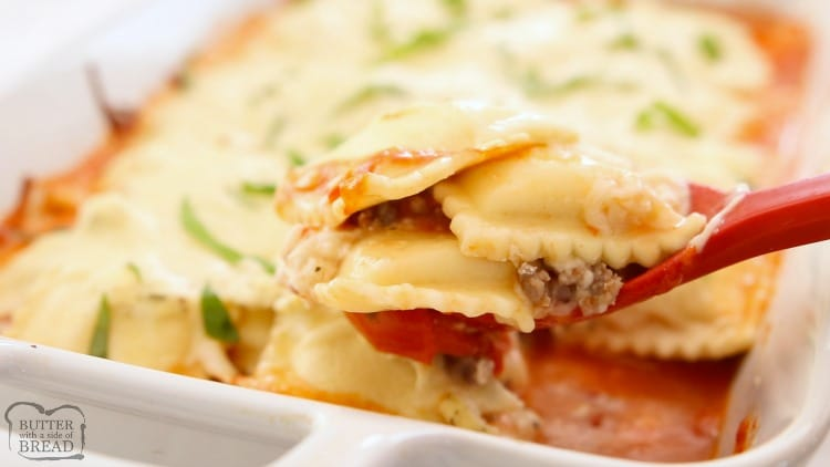 3 Cheese Baked Ravioli Lasagna recipe