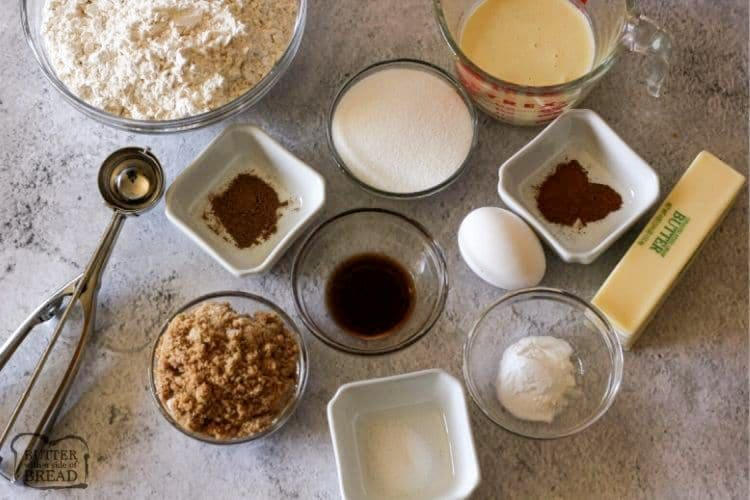 ingredients needed to make eggnog cookies
