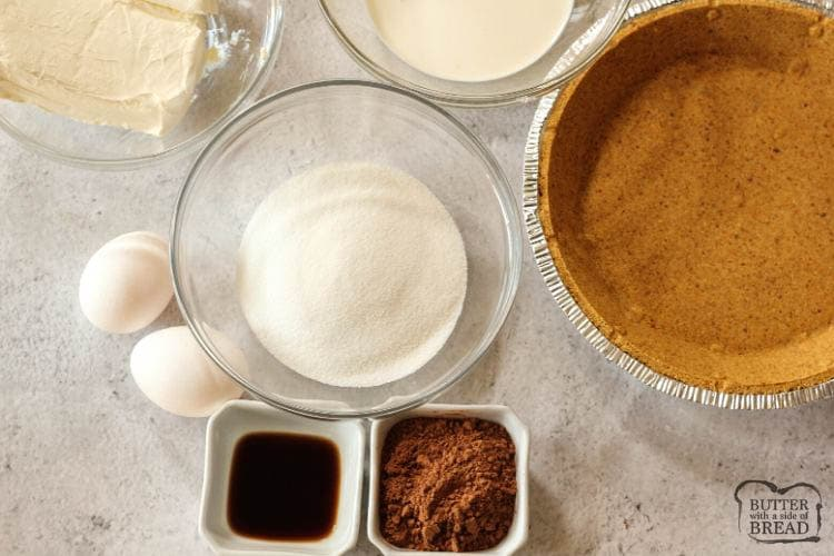 ingredients needed to make cherry chocolate cream cheese pie recipe