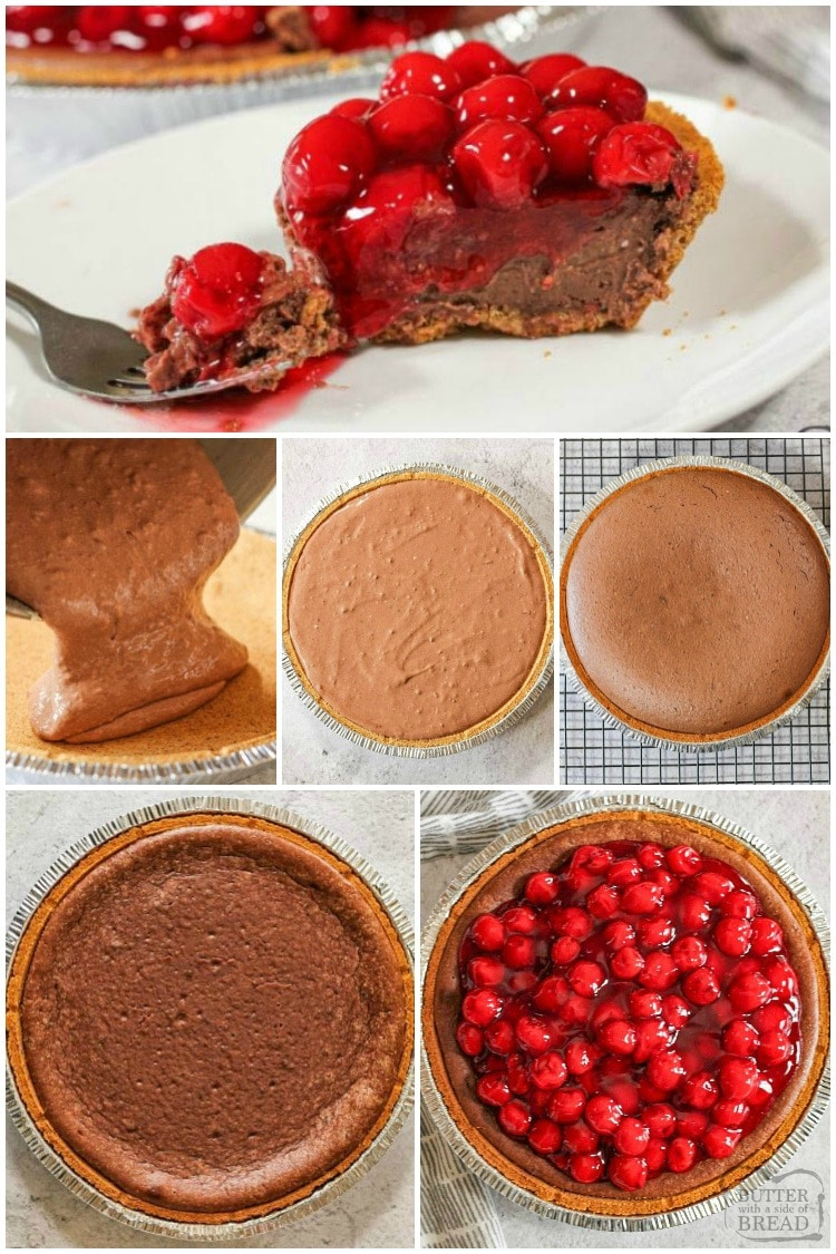 how to make cherry chocolate cream cheese pie recipe