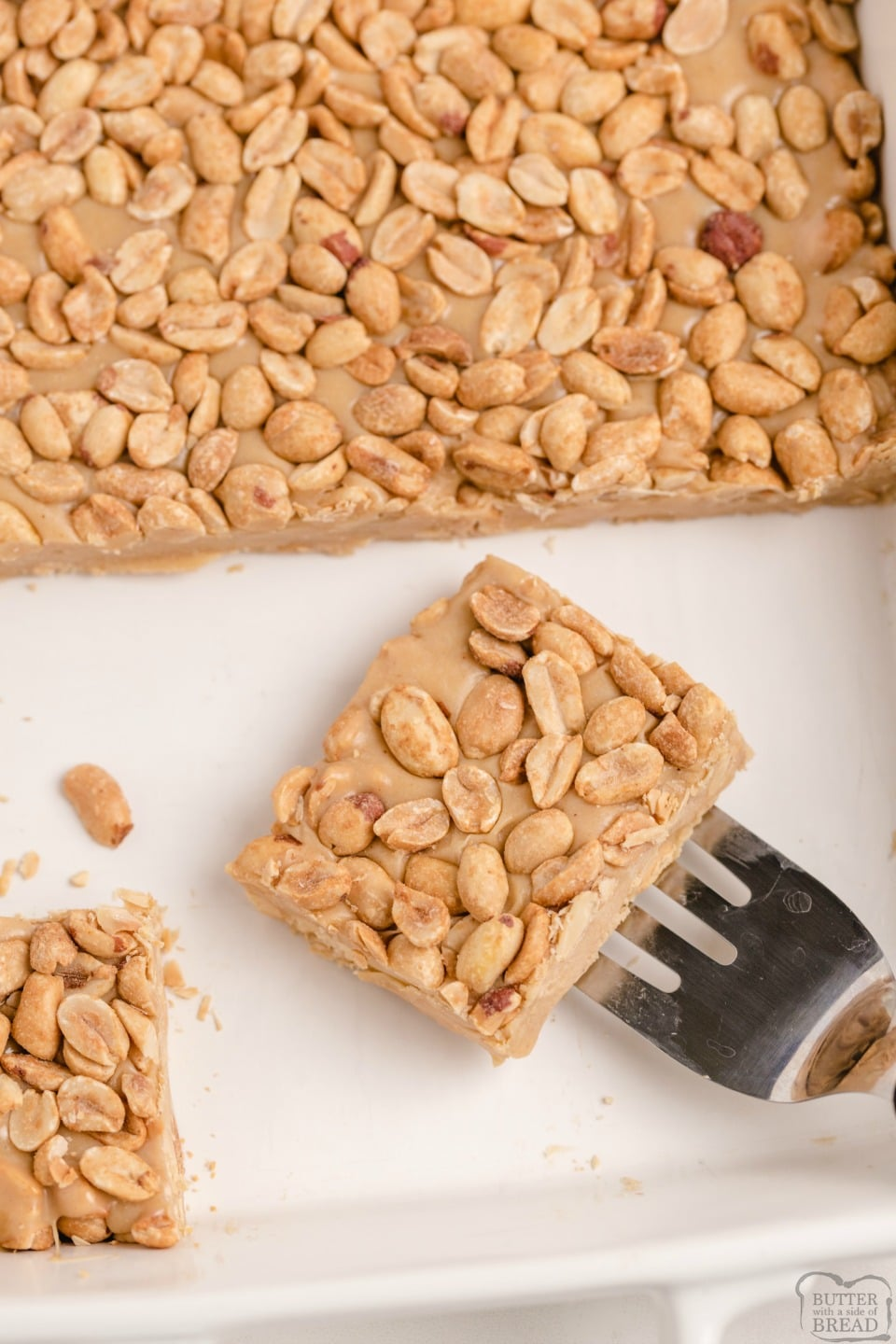 Salted Nut Rolls are an incredible homemade version of the candy bar! Our Easy Salted Nut Roll Bar Recipe is made with roasted peanuts & and peanut butter nougat for a fun & delicious homemade treat!