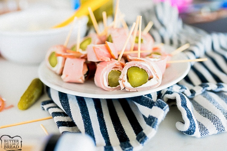 ham pickle roll ups