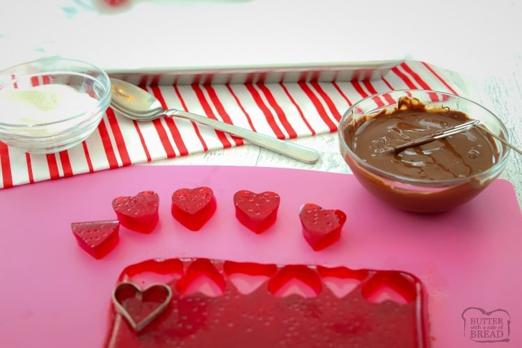 How to make Cherry Jelly Hearts Candy