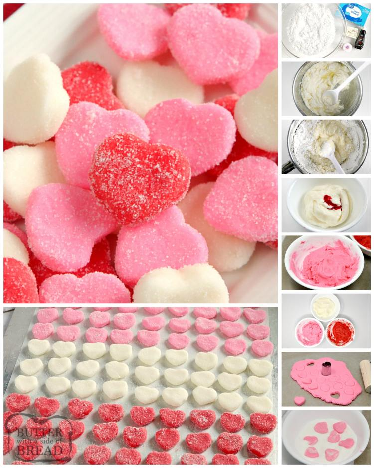Step by step instructions on making butter candies for Valentines Day