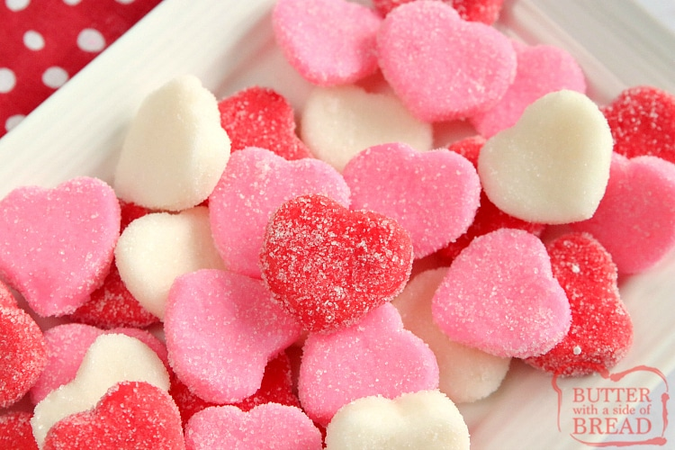 Valentines Cream Cheese Butter Mints are a fun no-bake Valentines Day treat that are easy to make and they are just so cute too! Only three ingredients, plus any coloring or flavoring you want!