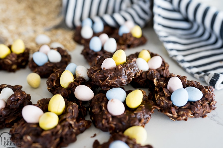 Chocolate Nest Easter Cookies Butter With A Side Of Bread