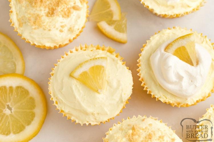Mini cheesecake recipe with lemon