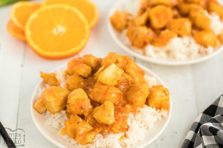 Easy homemade Orange Chicken recipe
