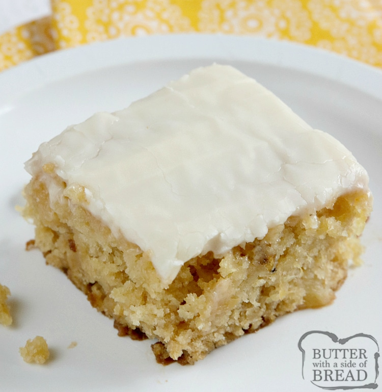 Simple cake with crushed pineapple