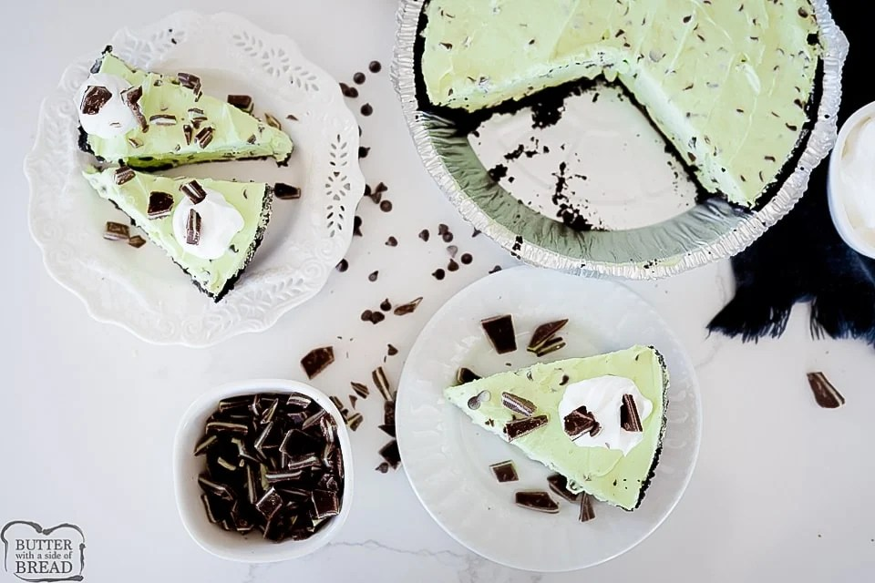 Mint Chocolate Chip Cream Pie recipe