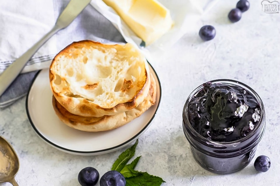 Easy blueberry jam is a delicious homemade jam recipe with only 2 ingredients (and water!) Super simple recipe that's ready in under an hour & perfect way to preserve fresh blueberries!