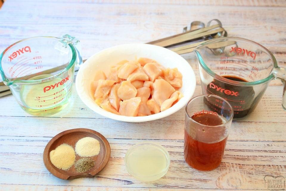Glazed Honey Chicken Kabobs recipe ingredients