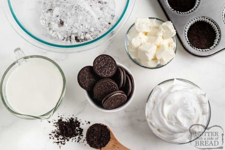 Ingredients in No Bake Oreo Cheesecake