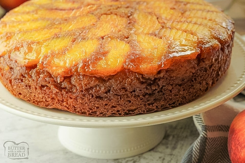 Upside Down Peach Cake recipe